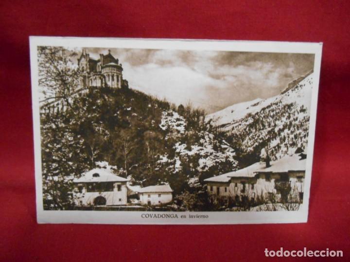 ANTIGUA POSTAL - COVADONGA - EN INVIERNO - SIN CIRCULAR - (Postales - España - Asturias Antigua (hasta 1.939))