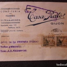 Postales: (JX-181216)TARJETA POSTAL,CENSURA MILITAR GIJON,CASA RATO,CONFITERÍA,ULTRAMARINOS,GUERRA CIVIL. Lote 142881070
