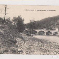 Postales: POSTAL. TRUBIA (OVIEDO). PUENTE DE SOTO EN LA CARRETERA. ASTURIAS. Lote 142981530