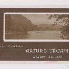Postales: BONITA Y RARA POSTAL FOTOGRÁFICA. FOTO-POSTAL ARTURO TRUAN. GIJÓN. ASTURIAS. Lote 143045598