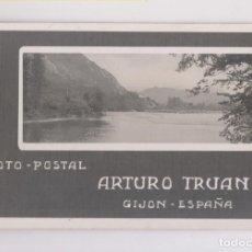 Postales: BONITA Y RARA POSTAL FOTOGRÁFICA. FOTO-POSTAL ARTURO TRUAN. GIJÓN. ASTURIAS. Lote 143045962