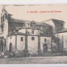 Postales: POSTAL. 4. AVILÉS. IGLESIA DE SAN NICOLÁS. ASTURIAS. Lote 143650746