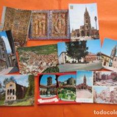 Postales: OVIEDO - 10 POSTALES - 1 CIRCULADA EN CON SELLO Y MATASELLOS AÑO 1972. Lote 144098846