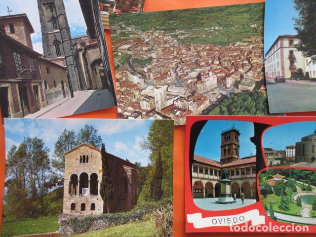 Postales: OVIEDO - 10 POSTALES - 1 CIRCULADA EN CON SELLO Y MATASELLOS AÑO 1972 - Foto 2 - 144098846