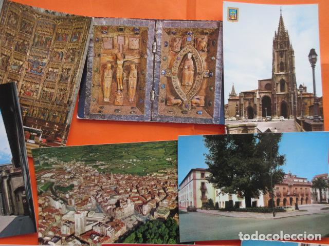 Postales: OVIEDO - 10 POSTALES - 1 CIRCULADA EN CON SELLO Y MATASELLOS AÑO 1972 - Foto 3 - 144098846