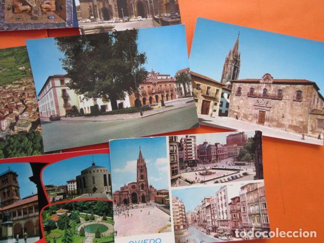 Postales: OVIEDO - 10 POSTALES - 1 CIRCULADA EN CON SELLO Y MATASELLOS AÑO 1972 - Foto 4 - 144098846