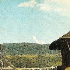 Postales: LUARCA (ASTURIAS) - EL VIADUCTO DESDE EL CHANO - FOTOCOLOR GÓMEZ - SIN CIRCULAR. Lote 144411514