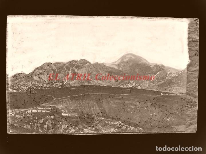 CANGAS DE ONIS - CLICHE ORIGINAL - NEGATIVO EN CELULOIDE - AÑOS 1900-20 - FOTOTIP. THOMAS, BARCELONA (Postales - España - Asturias Antigua (hasta 1.939))