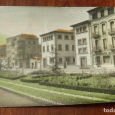 Postales: FOTO POSTAL MIERES, JARDINES DE LA AVENIDA JOSE ANTONIO, N. 19 ED. ALARDE, NO CIRCULADA, ESCRITA.. Lote 145414438