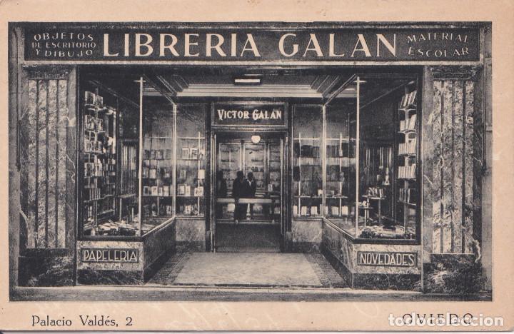 OVIEDO (ASTURIAS) - LIBRERIA GALAN (Postales - España - Asturias Antigua (hasta 1.939))
