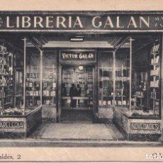 Postales: OVIEDO (ASTURIAS) - LIBRERIA GALAN. Lote 146381686