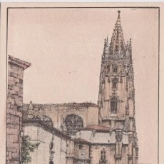 Postales: OVIEDO (ASTURIAS) LA CATEDRAL, DIBUJO - ED. SIDE, S.A. C-90 Nº 90 - S/C. Lote 146932446