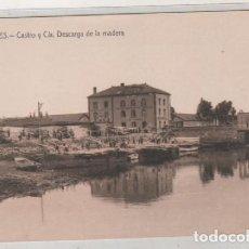 Postales: AVILÉS CASTRO Y CIA. DESCARGA DE LA MADERA. FOTOTIPIA CASTAÑEIRA, ALVAREZ Y LEVENFELD. Lote 147164202