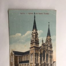 Postales: AVILES (ASTURIAS) POSTAL. IGLESIA DE SANTO TOMAS. EDITA: TARJETA POSTAL (H.1950?). Lote 147544917