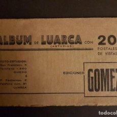 Postales: LUARCA ASTURIAS ALBUM CON 20 POSTALES DE VISTAS EDICIONES GOMEZ, COMPLETO, CON TEXTOS Y PUBLICIDAD. Lote 147572686