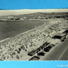 Postales: POSTAL DE GIJON: PLAYA DE SAN LORENZO. Lote 147925450
