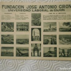 Postales: FUNDACION JOSE ANTONIO GIRON. UNIVERSIDAD LABORAL DE GIJON. TARJETA POSTAL. . Lote 148366486