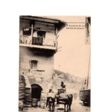 Postales: ASTURIAS.- A LA PUERTA DE UNA FÁBRICA DE SALAZÓN. LIBRERÍA ESCOLAR. OVIEDO. Lote 148502958