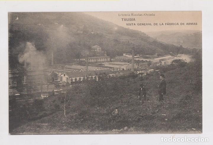 POSTAL. TRUBIA. VISTA GENERAL DE LA FÁBRICA DE ARMAS. ASTURIAS. (Postales - España - Asturias Antigua (hasta 1.939))