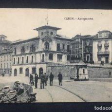 Postales: GIJON ANTEPUERTO GRAFOS MADRID. Lote 152416786