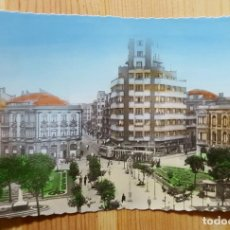 Postales: GIJON PLAZA DE SAN MIGUEL COLOREADA - ED. ARRIBAS Nº 106. Lote 153007362