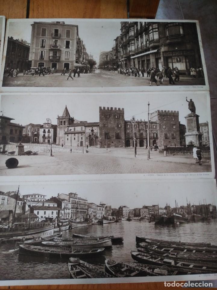 Postales: ÁLBUM 12 POSTALES PANORÁMICAS DE GIJÓN. - Foto 4 - 153106310