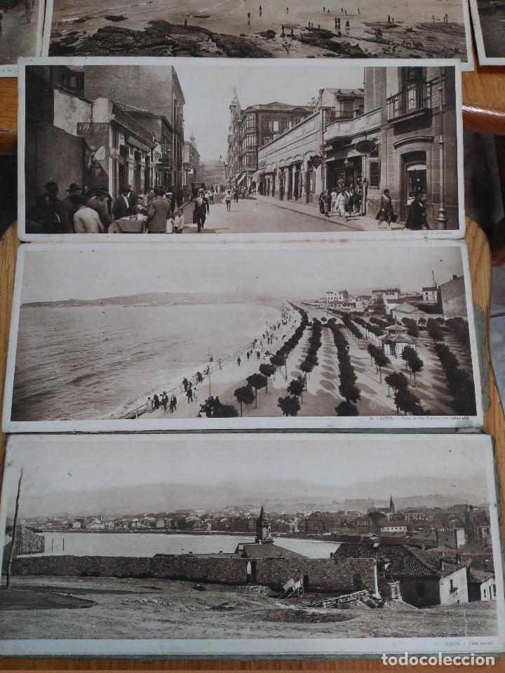 Postales: ÁLBUM 12 POSTALES PANORÁMICAS DE GIJÓN. - Foto 5 - 153106310