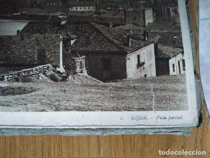 Postales: ÁLBUM 12 POSTALES PANORÁMICAS DE GIJÓN. - Foto 6 - 153106310