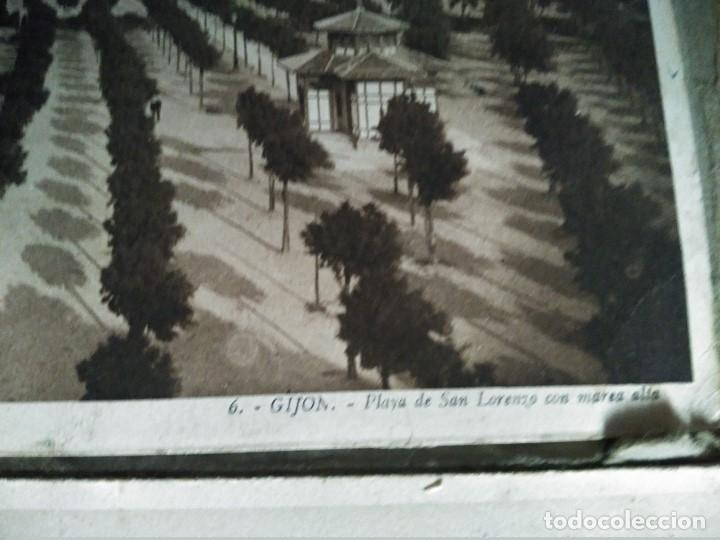 Postales: ÁLBUM 12 POSTALES PANORÁMICAS DE GIJÓN. - Foto 7 - 153106310