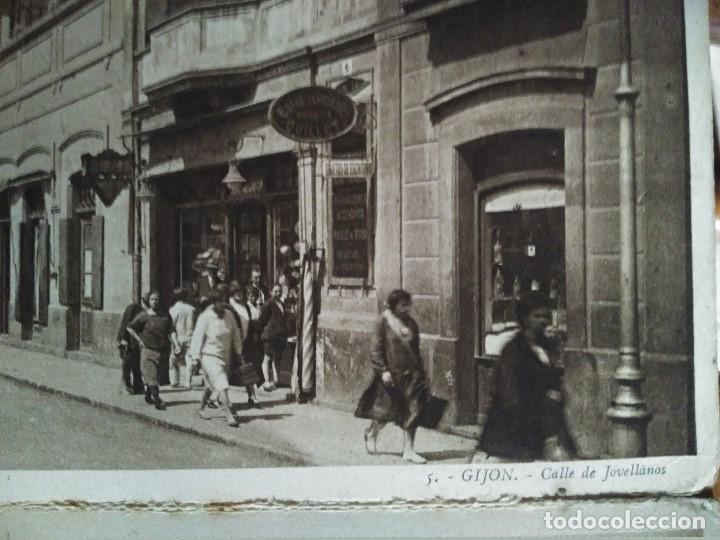 Postales: ÁLBUM 12 POSTALES PANORÁMICAS DE GIJÓN. - Foto 8 - 153106310
