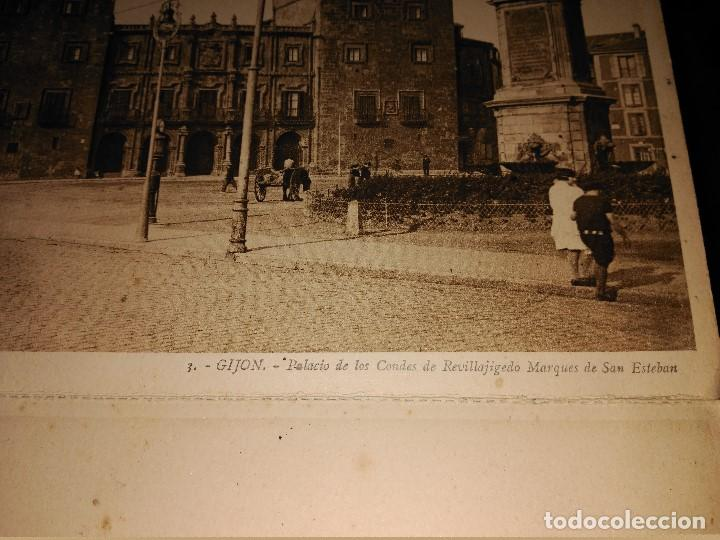 Postales: ÁLBUM 12 POSTALES PANORÁMICAS DE GIJÓN. - Foto 10 - 153106310