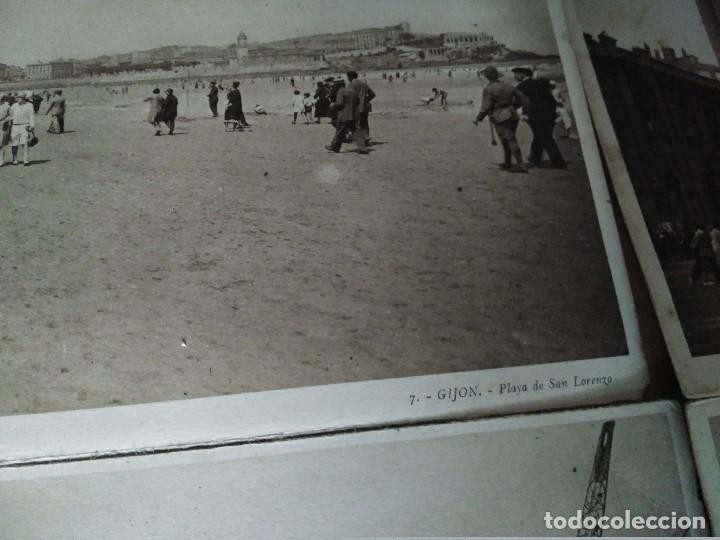 Postales: ÁLBUM 12 POSTALES PANORÁMICAS DE GIJÓN. - Foto 14 - 153106310