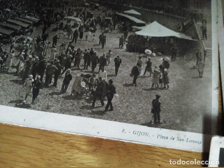 Postales: ÁLBUM 12 POSTALES PANORÁMICAS DE GIJÓN. - Foto 17 - 153106310