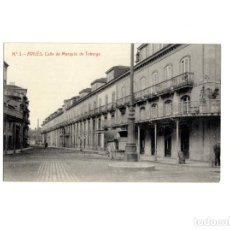Postales: AVILÉS.(ASTURIAS).- CALLE DEL MARQUÉS DE TEBERGA. POSTAL FOTOGRÁFICA. Lote 153951886