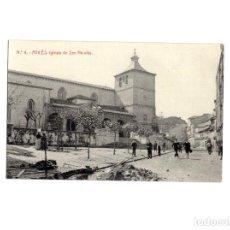 Postales: AVILÉS.(ASTURIAS).- IGLESIA SAN NICOLÁS. POSTAL FOTOGRÁFICA. Lote 153952234