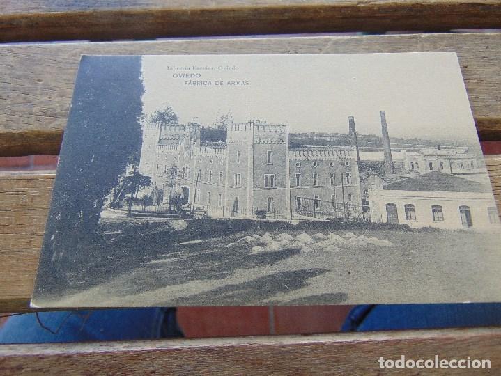 TARJETA POSTAL OVIEDO FABRICA DE ARMAS (Postales - España - Asturias Antigua (hasta 1.939))