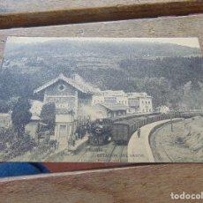 Postales: TARJETA POSTAL OVIEDO TRUBIA ESTACION DEL VASCO. Lote 153960514