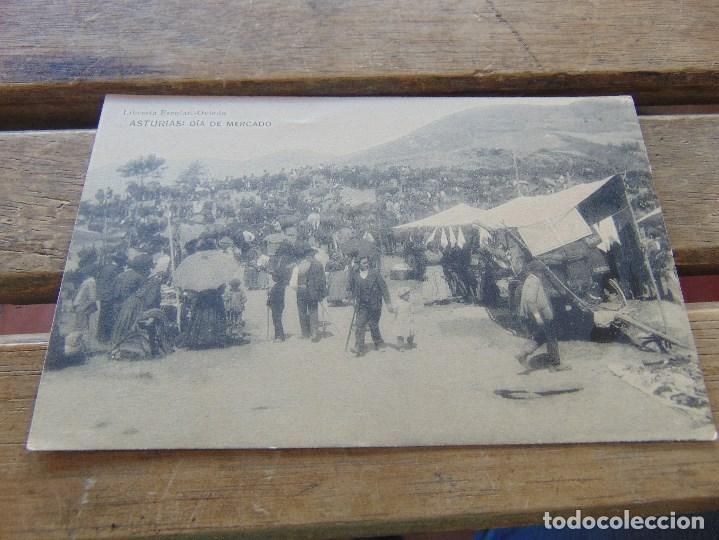 TARJETA POSTAL ASTURIAS DIA DE MERCADO (Postales - España - Asturias Antigua (hasta 1.939))