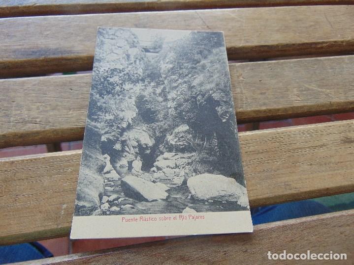 TARJETA POSTAL PUENTE RUSTICO SOBRE RIO PAJARES (Postales - España - Asturias Antigua (hasta 1.939))