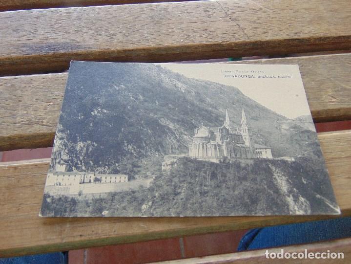 TARJETA POSTAL ASTURIAS COVADONGA BASILICA ABSIDE (Postales - España - Asturias Antigua (hasta 1.939))
