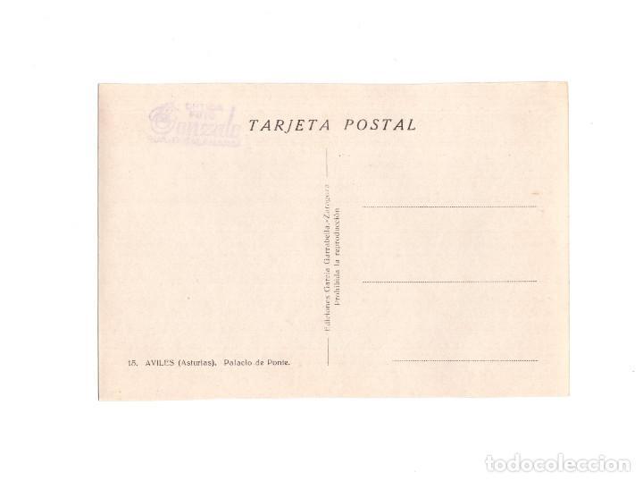 Postales: AVILÉS.(ASTURIAS).- PALACIO DE PONTE - Foto 2 - 153973906