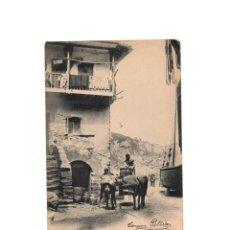 Postales: ASTURIAS.- A LA PUERTA DE UNA FÁBRICA DE SALAZÓN.. Lote 153998754