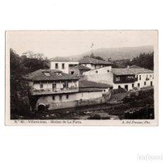 Postales: VILLAVICIOSA.(ASTURIAS).- MOLINO DE LA PARRA, FOTO A. FRESNO. POSTAL FOTOGRÁFICA. Lote 154337986