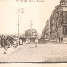Cartoline: ASTURIAS GIJÓN. CALLE DE EZCURDIA 1918. Lote 155284426