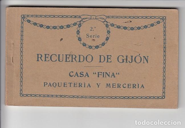 RECUERDO DE GIJÓN (12 POSTALES) (Postcards - Spain - Old Asturias (until 1939))