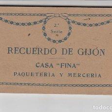Postales: RECUERDO DE GIJÓN (12 POSTALES). Lote 155497330