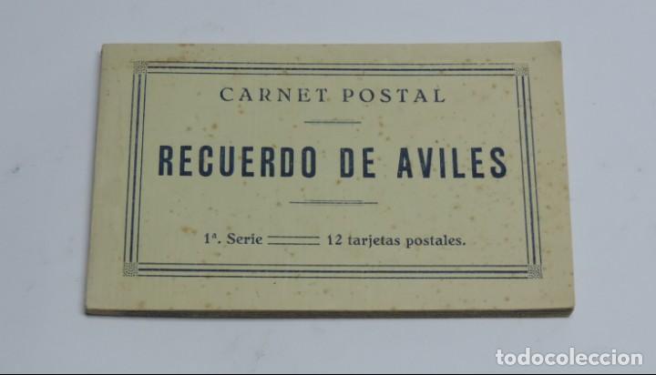 Postales: CUADERNILLO DE RECUERDO DE AVILES, ASTURIAS, 12 TARJETAS POSTALES, 1º SERIE, LIBRERIA LA ESPERANZA, - Foto 2 - 155573970