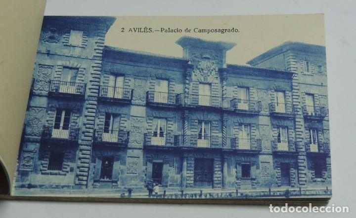 Postales: CUADERNILLO DE RECUERDO DE AVILES, ASTURIAS, 12 TARJETAS POSTALES, 1º SERIE, LIBRERIA LA ESPERANZA, - Foto 6 - 155573970
