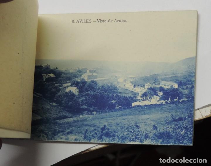 Postales: CUADERNILLO DE RECUERDO DE AVILES, ASTURIAS, 12 TARJETAS POSTALES, 1º SERIE, LIBRERIA LA ESPERANZA, - Foto 12 - 155573970