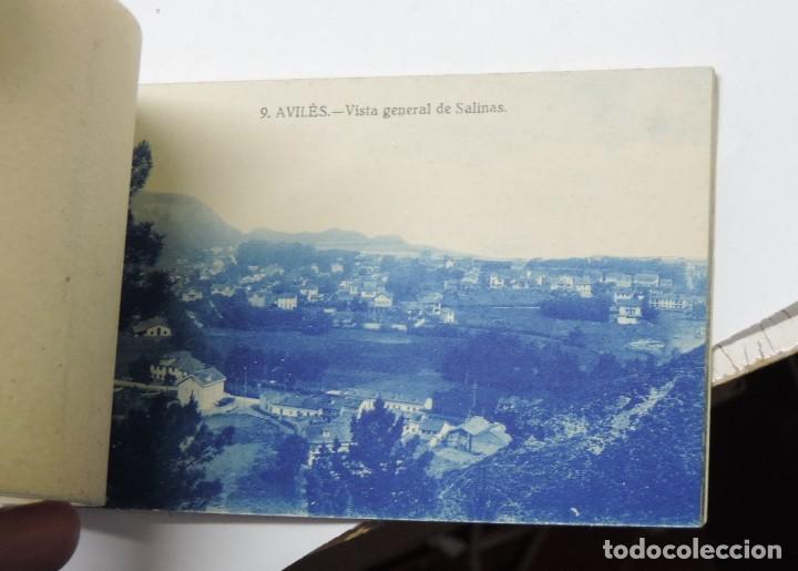 Postales: CUADERNILLO DE RECUERDO DE AVILES, ASTURIAS, 12 TARJETAS POSTALES, 1º SERIE, LIBRERIA LA ESPERANZA, - Foto 13 - 155573970
